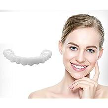 GAOWORD Dientes de carillas de 3 Piezas, prótesis Dental de simulación Dientes estéticos Ajuste Temporal