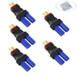 Boladge 5-Pack Deans T-Stecker auf EC5 Stecker Adapter für RC LiPo Batterie (kein Kabel) (EC5 Female to Deans T Male)