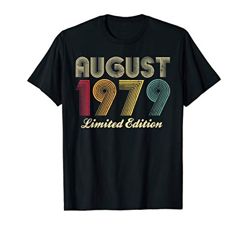 August 1979 40th Birthday Gift Vintage Limited Edition Retro T-Shirt -