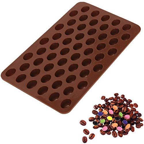 Xiangpian183 Silikon Schokoladenform - 55' Kaffeebohnen Silikonform Fondant-Kuchen Deko...