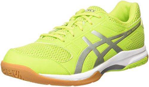 Asics Gel Rocket 8 Scarpe Sportive Indoor Uomo, Verde (Energy Green/Silver/White 7793), 45 EU