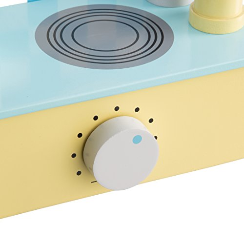 Ultrakidz Mini Play Kitchen made from natural wood, small and compact with  cooking accessories