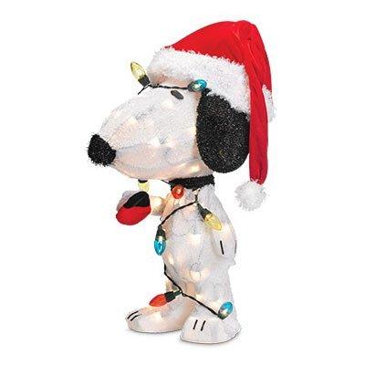 (Produkt arbeitet 603813D-Snoopy Weihnachten Rasen Dekoration, Erleuchtet, 24-in., 1)