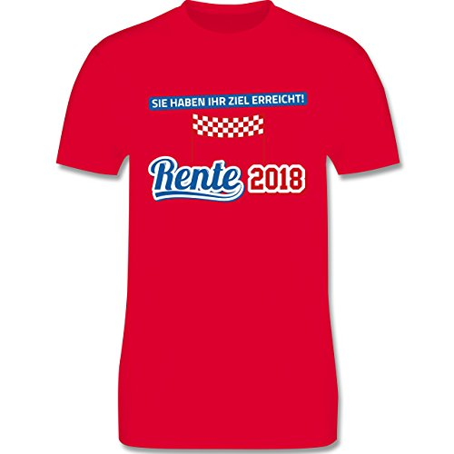 Shirtracer Sonstige Berufe - Rente 2018 Sie Haben Ihr Ziel Erreicht - Herren T-Shirt Rundhals Rot