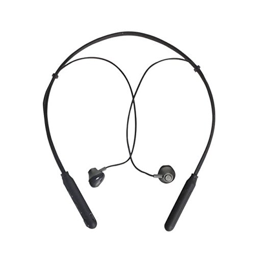 Meckwell V21 Charging Case, Retractable Neckband Earbuds with Microphone, Wire-free Headphones (Black)