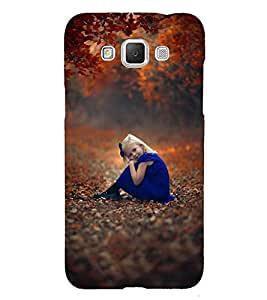 Takkloo baby child girl girl in blue,golden hair, girl sitting under tree, colourful trees) Printed Designer Back Case Cover for Samsung Galaxy Grand Max G720