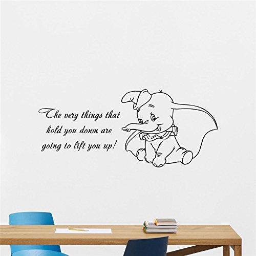 wandaufkleber schlafzimmer Wall Sticker Quotes Dumbo Quote Vinyl Wall Decal The Very Wall Sticker Baby Girl Boy Custom Kids Room Art Bedroom Nursery Poster Decor Mural für Wohnzimmer Schlafzimmer - Wandtattoos Boy Disney
