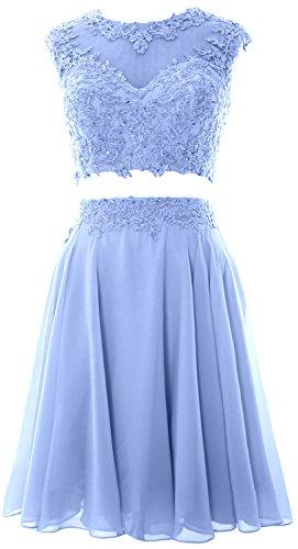MACloth - Robe - Trapèze - Sans Manche - Femme Small Bleu ciel