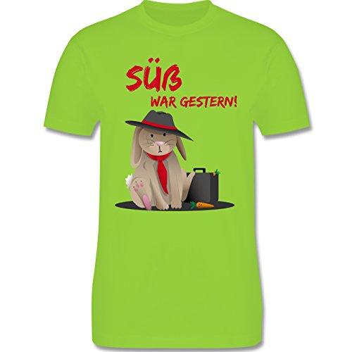 Statement Shirts - Mafia Häschen - Herren Premium T-Shirt Hellgrün