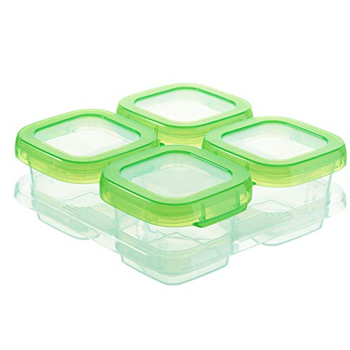 Aufbewahrungsbehälter für Babynahrung/Gefriertruhe für 4/6 Gitter/Abstillschalen/Gefrierschalen/kleine Behälter, tragbar Free Size 4 Grids