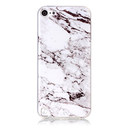 Price comparison product image Samidy Touch 5/6 Soft Case, White Marble Pattern TPU Slim Fit Protective Cover Case for Ipod Touch5/6