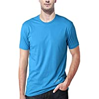 AWG Men's Jersey Round Neck Sky Blue Dryfit Polyester T-shirt - MFN-AWGDFT-SBU-L