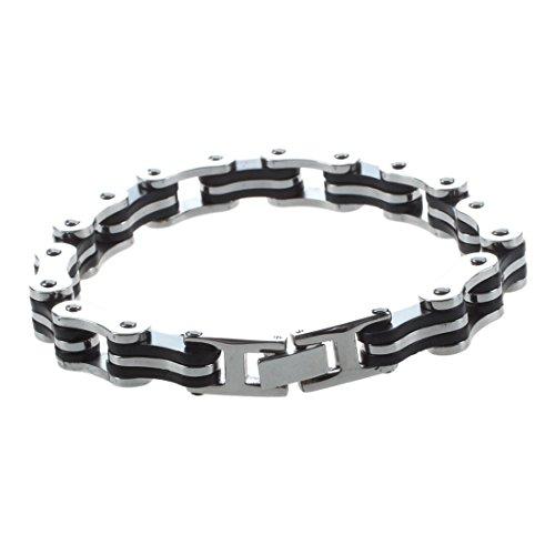 TOOGOO (R) Estilo de la cadena de bicicleta de acero inoxidable pulsera...