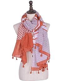 XZP Bufanda estampada Bufanda colgante geométrica Voile Large Trendy Comfortable Special para mujeres