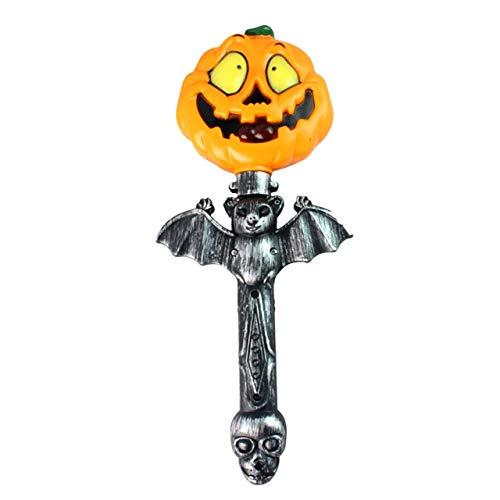 Jasnyfall kürbis Halloween Halloween kürbis Dekoration Lustige Horrible Batterie Betrieben Handheld Leuchten Kürbis Stick Wand Sticks