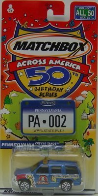 Matchbox Across America 50th Birthday Series Pennsylvania Chevy Tahoe Police by Matchbox