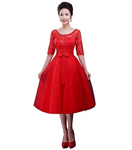 Drasawee - Robe - Trapèze - Femme red