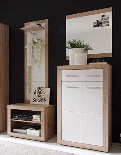 4 tlg Garderobe Can Can Dielenmöbel Kompaktgarderobe San Remo CanCan