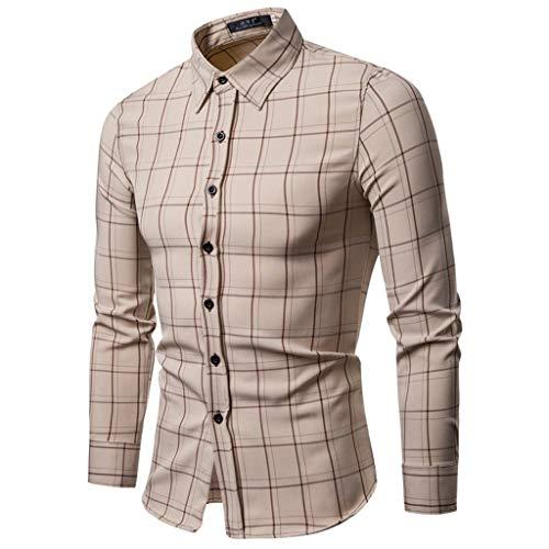 TEFIIR T-Shirt für Frauen, Oktoberfest, Leistungsverhältnis Herrenmode Business Freizeit Plaiddruck Langarmhemd Tops Bluse Geeignet für Freizeit, Dating, Strandurlaub -