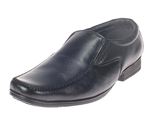 Khadim's Mens Black Leather Formal Shoes - 6