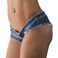 Pantalones cortos de mezclilla para mujeres Pantalones cortos Pantalones cortos para mujeres Pantalones cortos de mezclilla Low-rise Pantalones cortos Pantalones cortos de playa ( Tamaño : L )