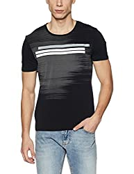 Wrangler Mens T-Shirt (8907649216651_W2491123344C_XXL_Black)