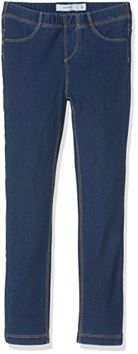 NAME IT Mädchen Hose Nittille Xxsl/Xxsl Dnm Legging Nmt Noos, Blau (Dark Blue Denim), 110