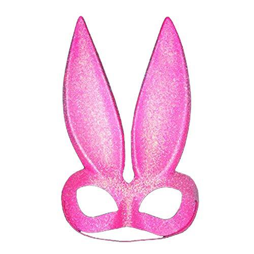 OAMORE Verschiedene Maskerade Kaninchenmaske Häschenmaske für Party/Easter/Mardi Gras/Wedding/Wall Decoration (Pink)