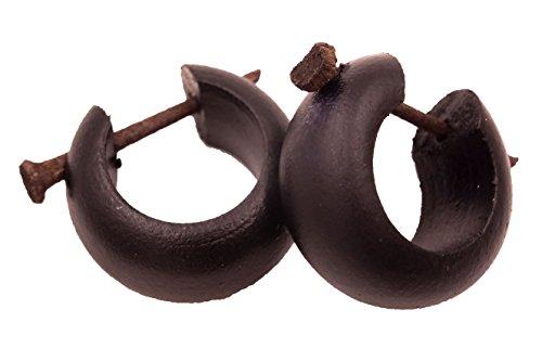 Made in Zen - Pendientes de aro, madera,...