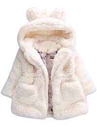Abrigo Caliente Bebé, Internet Bebé Niñas Lactantes Otoño Invierno Conejo Engrosamiento Chaqueta Con Capucha Chaqueta Con Capucha Capa De Capa Ropa De Abrigo Gruesa