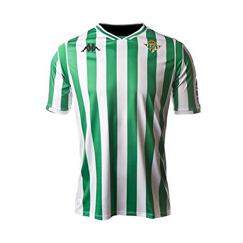 Kappa Kombat Replica Home Camiseta, Hombre, Blanco/Verde, M
