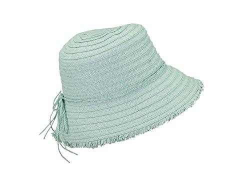 Loevenich Femmes Cloche Chapeaux d'été en Paille (Menthe/Rose/Bleu) Menthe