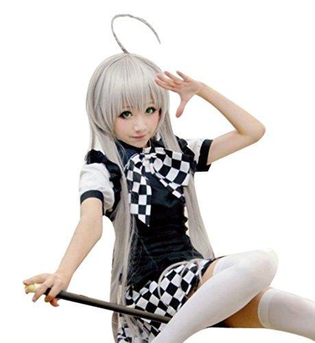 Stil Nyaru Kind Cosplay Kellnerin Lolita Gothic Cafe Maedchen Cosplay Halloween Maedchenkostuem Maedchen Alice Magd Schuerze Cosplay Akiba AKB48 Gothic Kostuem (L) (Akb48 Kostüm)