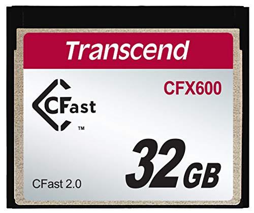 Transcend 32GB CFX600 CFast 2.0 Memoria Flash SATA MLC - Tarjeta de Memoria (32 GB, SATA, MLC, 512 MB/s, Negro)