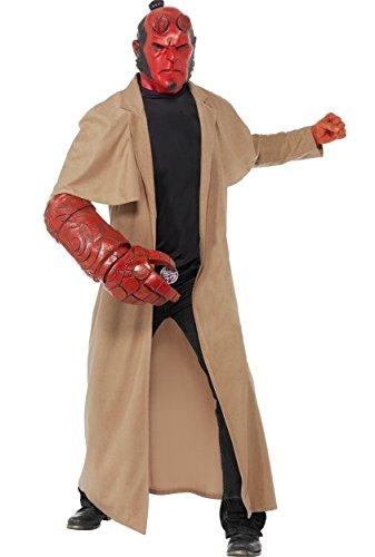 Herren HELLBOY hell Boy Film Devil Mutant Halloween Kostüm, ()