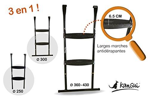 Escalera compatible para todas las camas elásticas redondas.