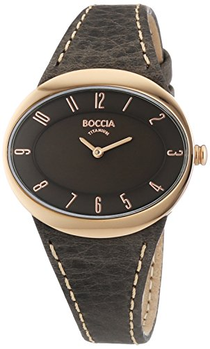 Boccia Women's 3165-20 Quartz Watch with Brown Dial Analogue Display and Brown Leather Strap