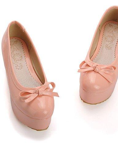 WSS 2016 Chaussures Femme-Bureau & Travail / Habillé / Décontracté-Noir / Rose / Rouge-Plateforme-A Plateau / Confort-Talons-Cuir Verni black-us7.5 / eu38 / uk5.5 / cn38
