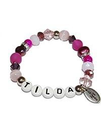Versilbertes Armband mit Namen Lisa Kinderarmband