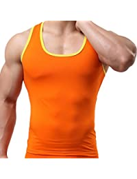 Camisetas de Tirantes para Hombre,VENMO Hombres Gimnasio Sport Elástica Musculares Verano Camisetas sin mangas