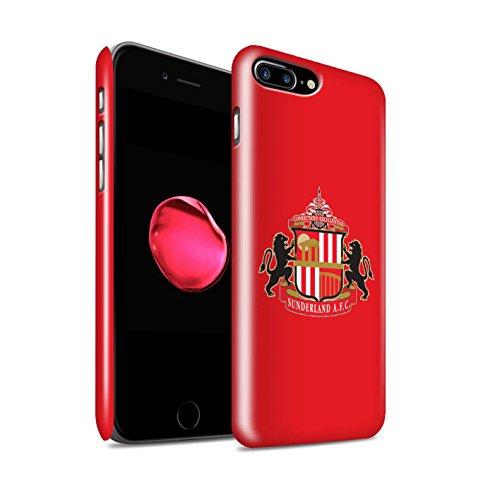 Offiziell Sunderland AFC Hülle / Glanz Snap-On Case für Apple iPhone 7 Plus / Weiß Muster / SAFC Fußball Crest Kollektion Rot