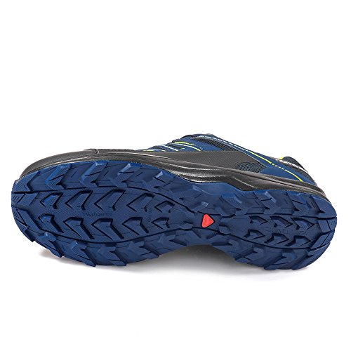 Salomon 398692, Scarpe da camminata uomo navy blue/blue depths/lime green
