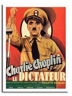 Great Dictator Charlie Chaplin Film Poster Ca. 40 X 30cm (15.5 X 11.5) - Charlie Chaplin-film Poster