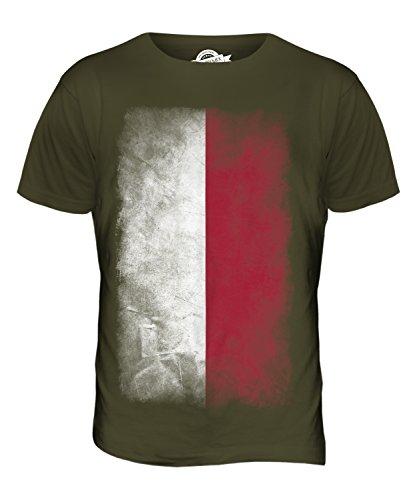 CandyMix Polen Verblichen Flagge Herren T Shirt Khaki Grün