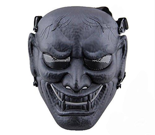 Samurái japoneses máscaras de Airsoft máscaras - permance Goggle-negro máscara de Halloween