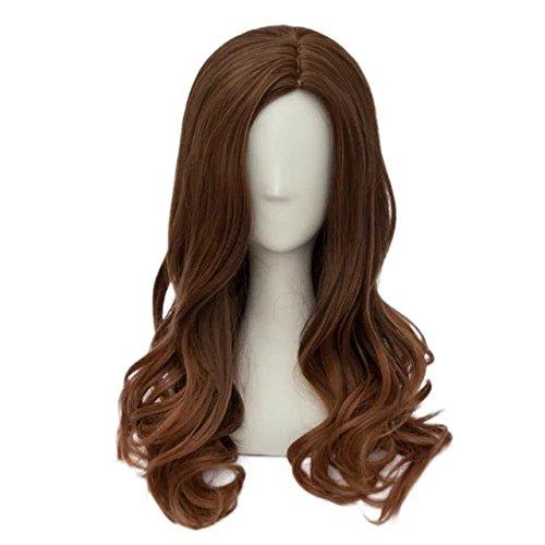 Preisvergleich Produktbild Top Cosplay Halloween Long Brown Wavy Anime Wig für Cosplay+Cap