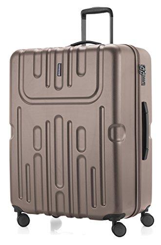 HAUPTSTADTKOFFER - Havel - 2er Koffer-Set (Handgepäck mit Laptop-Fach und Großer Reisekoffer) Trolley-Set Rollkoffer Hartschalenkoffer, TSA, (S & L), Gold - 5