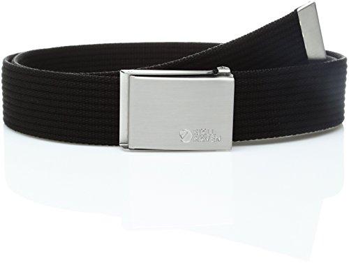 Fjällräven Herren Gürtel Canvas Belt, Black, One Size, 77029-550
