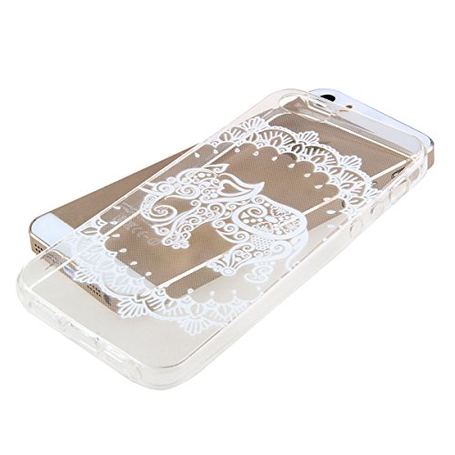 SainCat Coque Housse Apple iPhone 4/4s,Transparent Coque Silicone Etui Housse,iPhone 4/4s Silicone Case Soft Gel Cover Anti-Scratch Transparent Case TPU Cover,Fonction Support Protection Complète Magn l'éléphant#1