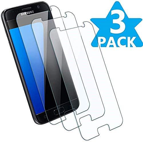 KOFOHO [Pack de 3] Verre Trempé pour Samsung Galaxy S7, Film Protecteur d'Écran en Verre Trempé [Facile à Installer] [3D-Touch/Dureté 9H] [sans Bulles d'air] - pour Samsung Galaxy S7 - Transparent